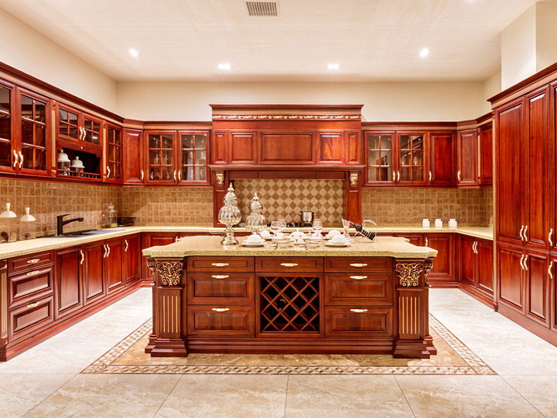 Modern Kitchen Cupboard And Cabinet Of Wood