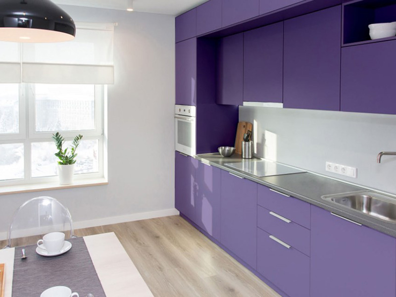 Purple Dark Color Ston Cabin