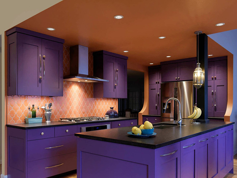 Purple Kitchen Cabinets Style