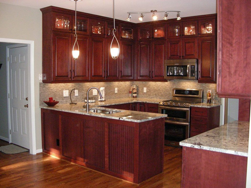 Red Cherry Kitchen Cabinet