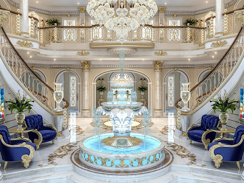 Royal Style Stair In Hall