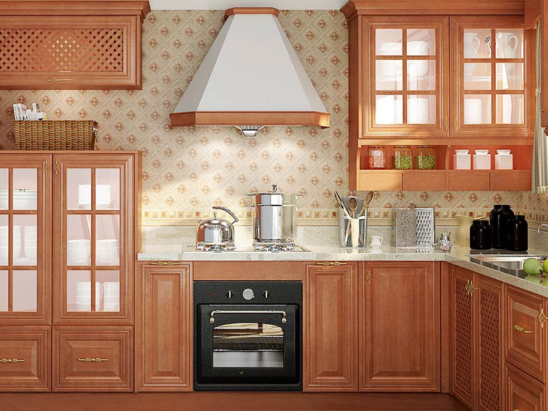 Rural Cherry Kitchen Cabinet Style Of Wood