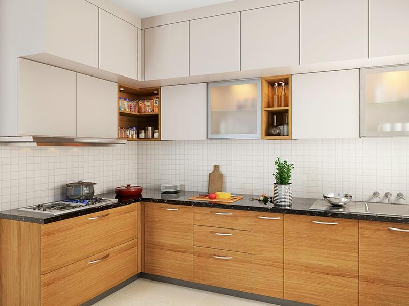 White Brown Kitchen Cabinet