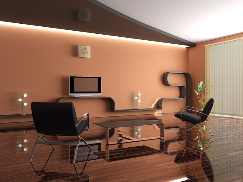 Luxury Pvc Wall Design In Living Room