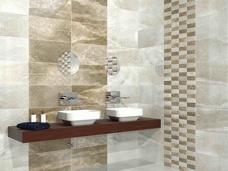 Stone Wall Tiles In Bath Room