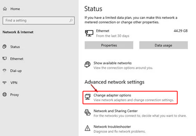 Change Adapter Options In Windows 11