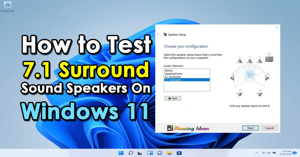 How to Test 7.1 Surround Sound Speakers On Windows 11