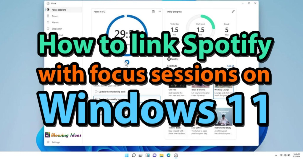 How to link Spotify on Windows 11 with focus sessions