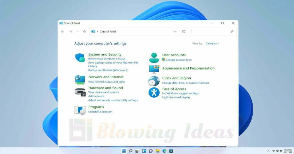How to Access Control Panel in Windows 11