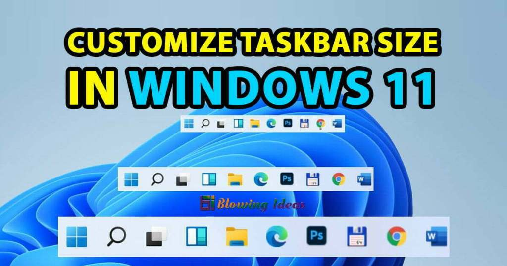 How To Customize Taskbar Size In Windows 11