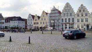 Der Marktplatz von Friedrichstadt