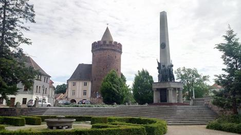 Russisches Kriegerdenkmal für die bei der Eroberung der Stadt Gefallenen