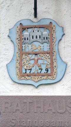 Wappen am Rathaus