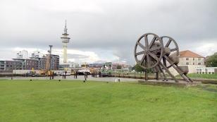Blick von der Neuen Schleuse zur Innenstadt