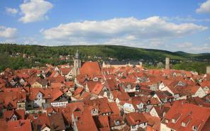 Blick über die Dächer der Altstadt von Hannoversch Münden