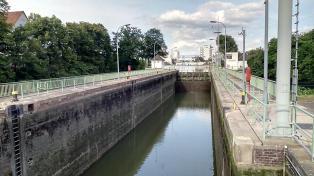 Schleuse am Mittellandkanal