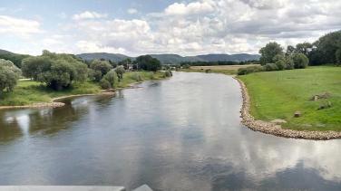 Die Weser bei Rinteln