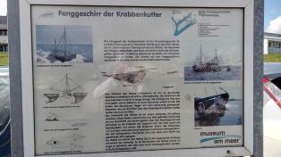 Infotafel zur Krabbenfischerei