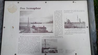 Infotafel zum Semaphor