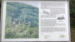 Infotafel zur Burg Thurant