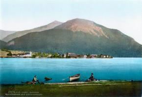 Historisches Postkartenmotiv von 1900 mit dem Herzogstand