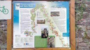 Infotafel für Wasserwanderer