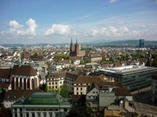 Blick von der Elisabethenkirche Richtung Münster