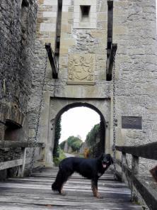 Eingangstor zur Burg mit Zugbrücke