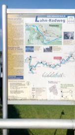 Infotafel zum Lahn-Radwanderweg