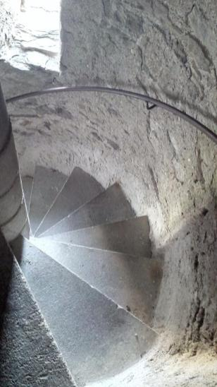 Ganz schön eng: Das Treppenhaus im Bergfried