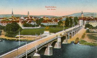Historisches Postkartenmotiv von Saarbrücken