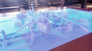 Modell der gesamten Anlage