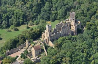 Luftbild der Burg Rötteln