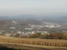 Blick zur Burg Rötteln vom Tüttlinger Berg