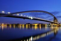 Die Dreiländerbrücke über den Rhein