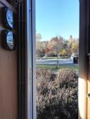 Ausblick aus dem Wohnmobil auf die Skateranlage von St. Georgen