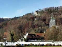 Die Klosterkirche ist zurzeit eingerüstet