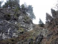 Typische Felswand