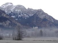 Blick vom Bannwaldsee Richtung Schloss Neuschwanstein