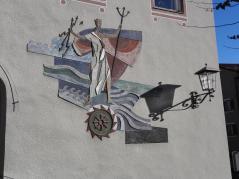 Wandmalerei in der Altstadt am Lech