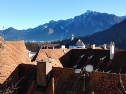 Blick vom Schloss über die Dächer der Altstadt