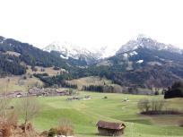 Blick auf Oberstdorf und die Allgäuer Alpen