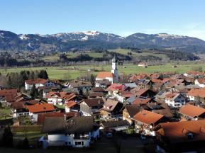 Altstädten, ein südlicher Ortsteil von Sonthofen