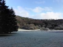 Im Tal ist noch alles gefroren