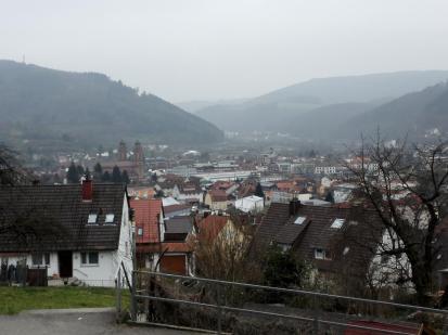 Blick hinunter auf Eberbach