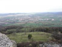 Blick hinunter vom Staffelberg in das Maintal