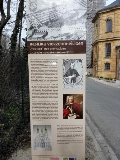 Infotafel zur Entstehung der Basilika Vierzehnheiligen