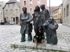 Skulptur an der Stadtkirche