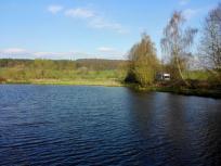 Unser Stellplatz an einem Fischteich neben dem Edersee