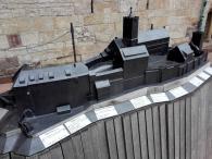Modell der Burg: Westseite